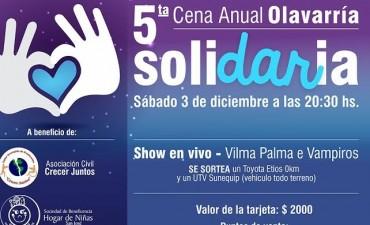 Cena Solidaria: hasta el 29 de noviembre se pueden adquirir tarjetas