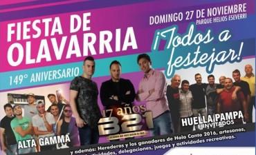 #FiestaDeOlavarría: el domingo celebremos juntos un nuevo aniversario
