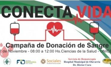 Campaña de donación de sangre en Ciencias de la Salud