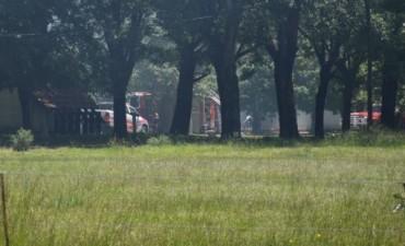 Voraz incendio en el RC Tan 2