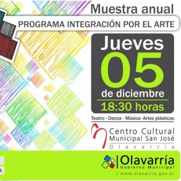 Anuncian la Muestra Anual del Programa Municipal de Integración por el Arte