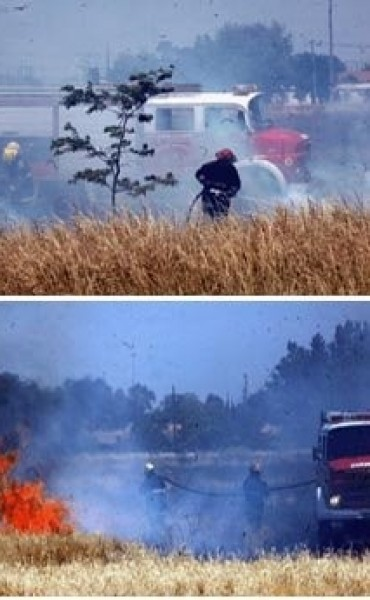 Bomberos alertan sobre descontrol en quema de pastos