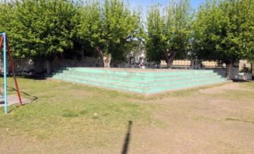 Piden mejoras en la Plaza Libertad del barrio Luján