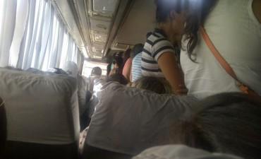 Queja por condiciones de viaje en la línea interurbana