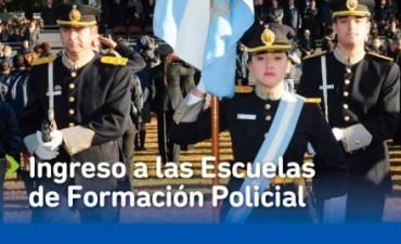 Inscripción para ingresar a las Escuelas de Formación Policial