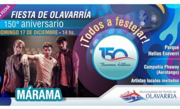 Fiesta Aniversario de Olavarría, este domingo 17