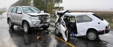Loma Negra: dos jóvenes heridos un accidente