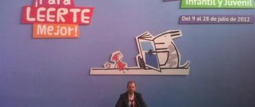 El bibliotecario y escritor Diego Rojas en la 22º Feria Infantil y Juvenil del Libro