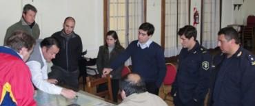 Alvear: el intendente municipal y miembros de la Comisión de Emergencias se reunieron con funcionarios provinciales