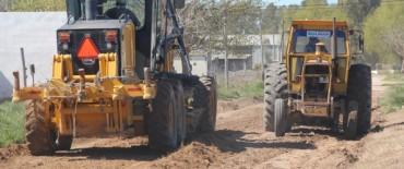 Azul: importante operativo de mantenimiento de calles en la ciudad