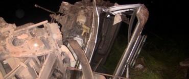 Alvear: chocaron cuatro camiones y hay tres olavarrienses involucrados