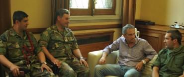 El Intendente recibió al Jefe del Regimiento Oscar Roberto Armanelli