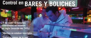 Siete de cada diez boliches debe impuestos a la Provincia