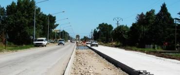Avance importante en la obra de pavimentación Autopista Luciano Fortabat