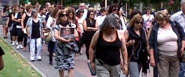 Realizaron una concentración y marcha por la  no violencia de género
