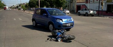Choque auto – moto