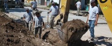 Más de 7,5 millones de pesos en pavimento y desagües en el Barrio Tiro Federal
