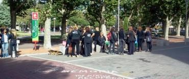 ATE y UDOCBA realizaron su protesta de luto