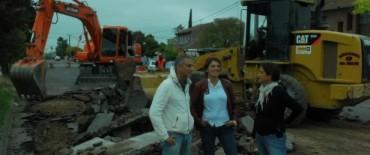 Comenzó la repavimentación en la Avenida Urquiza entre Balcarce y Rendón