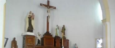 Pascua de Resurrección en la capilla Nuestra Señora del Carmen de la   Unidad Nº 2