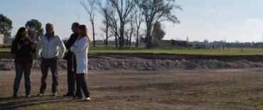 El Intendente Eseverri recorrió las obras en el Parque Avellaneda