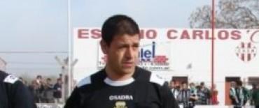 Marcelo Cendra en un importante partido del Argentino B