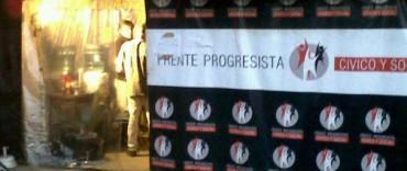 El bunker del Frente Progresista Cívico y social será en la calle 25 de Mayo