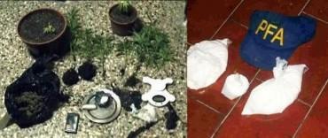 Benito Juárez: Cinco aprehendidos, entre ellos un policía, tras un allanamiento por narcotráfico