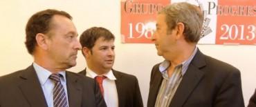 Franco Cominotto junto a Julio Cobos