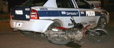 La Policía desmiente que un patrullero haya atropellado a un motociclista